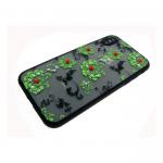 Задняя крышка Iphone 5/5S матовые цветы мелкие, зеленые