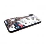 Задняя крышка Iphone 6/6S Металлические бабочки и стразы Эйфелева башня