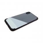 Силиконовый чехол Iphone 6/6S Полоска серая, черно-белый