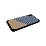 Силиконовый чехол Iphone 6/6S Полоска серая, черно-коричневый