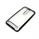 Силиконовый чехол Huawei Y6 II прозрачный с черной окантовкой