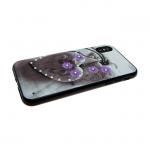 Задняя крышка Iphone 6/6S сердца со стразами, фиалки