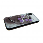 Задняя крышка Huawei Honor 7X сердца со стразами, фиалки