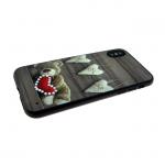 Задняя крышка Iphone 6/6S сердца со стразами, мишка
