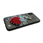 Задняя крышка Iphone 7/8 сердца со стразами, прищепка