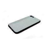 Задняя крышка Iphone 7/8 ткань с люрексом, белая