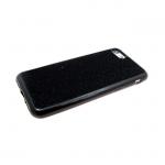 Силиконовый чехол Huawei P20 ткань с люрексом, черный