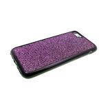 Силиконовый чехол Huawei P20 ткань с люрексом, фиолетовый