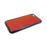 Силиконовый чехол Xiaomi Redmi Note 5A ткань с люрексом, красный