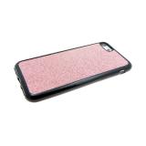 Силиконовый чехол Huawei Honor 6X ткань с люрексом, розовый