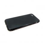 Силиконовый чехол Samsung G530 Galaxy Grand Prime блестящий с окатовкой из страз, черный