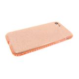 Силиконовый чехол Huawei P20 Lite блестящий с окатовкой из страз, розовый