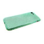Силиконовый чехол Iphone 7/8 блестящий с окатовкой из страз, зеленый