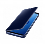 Чехол-книга Clear View Standing Cover Samsung A730 Galaxy A8+ 2018 зеркальная темно-синяя