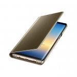 Чехол-книга Clear View Standing Cover Huawei P20 Lite зеркальная золотая