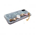 Силиконовый чехол Iphone 6/6S Collection с цепью, белый