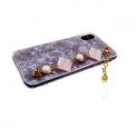 Силиконовый чехол Iphone 7/8 Collection с цепью, розовый