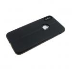 Силиконовый чехол Xiaomi Redmi Note 5A имитация текстильной ткани, черный