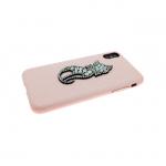 Задняя крышка Iphone 6/6S кошечка из страз, розовый