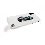 Задняя крышка Iphone 6/6S кошечка с пушком, белая