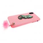 Чехол для Iphone 6/6S кошечка с пушком, розовая