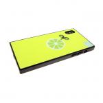Задняя крышка Iphone 6/6S стеклянная, фосфорная с рисунком, лимон