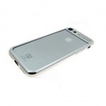 Силиконовый чехол Huawei Honor 7A Baseus с окантовкой, серебро