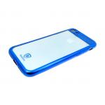 Силиконовый чехол Huawei Honor 7A Baseus с окантовкой, синий