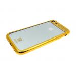 Силиконовый чехол Huawei Honor 7A Baseus с окантовкой, золотой