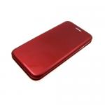 Чехол-книга пластиковый для Iphone 7 Plus/8 Plus с магнитом, глянцевый красный