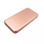 Чехол-книга пластиковый для Iphone 6 Plus с магнитом, глянцевый розовое-золото