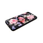 Силиконовый чехол Xiaomi Redmi Note 5A цветочный с попс, розы с фиалками