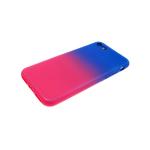 Силиконовый чехол Samsung J600F Galaxy J6 2018 Глянец с переходом без лого сине-красный