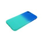 Силиконовый чехол Samsung J600F Galaxy J6 2018 Глянец с переходом без лого сине-зеленый