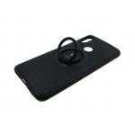 Силиконовый чехол Huawei Nova 3i iFace с черточками, с кольцом, черный