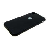 Силиконовый чехол Xiaomi Redmi 5 Plus кожа с серебристым логотипом, черный