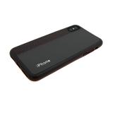 Силиконовый чехол Xiaomi Redmi 5 Plus кожа с текстилем и логотипом, коричневый