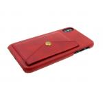 Задняя крышка Samsung J530 Galaxy J5 2017 кожанный с карманом на кнопке, красная
