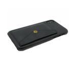 Задняя крышка Samsung J530 Galaxy J5 2017 кожанный с карманом на кнопке, черная