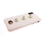 Задняя крышка Iphone 6/6S крупный жемчуг с жуками, розовая