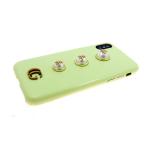 Задняя крышка Iphone 6/6S крупный жемчуг с жуками, желтая