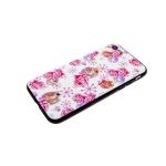 Задняя крышка Huawei Honor 7C лаковые блестки с цветами, розовые розы