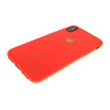Силиконовый чехол Samsung A605G Galaxy A6+ (2018) матово-глянцевый с логотипом, красный
