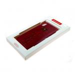 Силиконовый чехол Iphone 6/6S NewCase кожа гладкая с блестящим жучком, красный