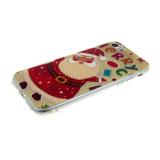 Силиконовый чехол Iphone 5/5S Новогодний, дед мороз с буквами