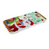 Силиконовый чехол Iphone 5/5S Новогодний, дед мороз с подарками