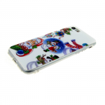 Силиконовый чехол Iphone 5/5S Новогодний, девочка и снеговик
