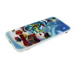 Силиконовый чехол Iphone 5/5S Новогодний, снеговик и елка