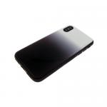Задняя крышка Iphone 6/6S пластик с переходом без лого, силиконовые борты, черная
