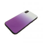 Задняя крышка Samsung J600F Galaxy J6 2018 пластик с переходом без лого, силиконовые борты, фиолетов